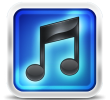 iTunes 10 Blue Rounded